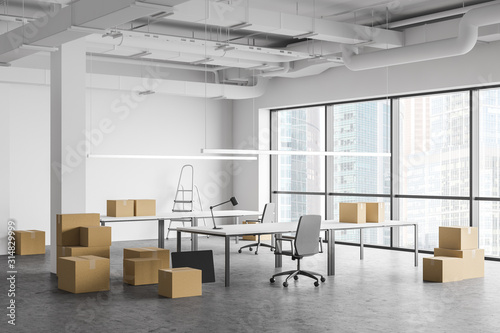 Moving to new office, boxes and equipment - 314829999