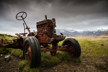Old Rusted Abandoned Tractor O...