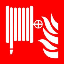 Fire Hose Reel Symbol