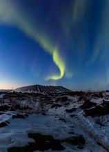 Northern Lights Above An Arctic Landscape