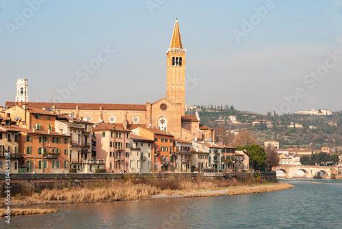 Photo Verona by the river Adige