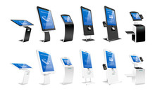 Self Order Kiosks Realistic Ve...
