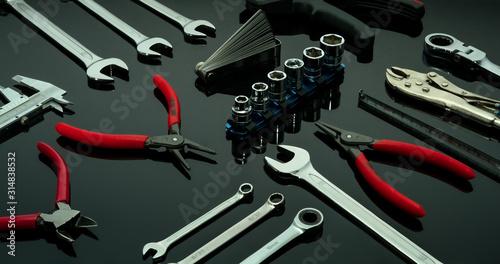 Photo Set of mechanic tools