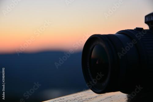 Aparat o zachodzie słońca Tapéta, Fotótapéta