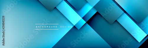 Fotografia Square shapes composition geometric abstract background