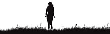 Vector Silhouette Of Running W...