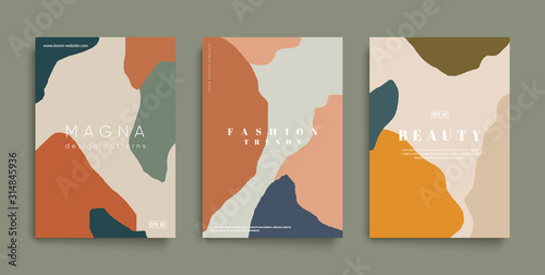 Minimal fashion cover templates Canvas Print