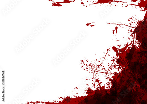 Fotomural  abstract vector splatter red color on white color design background