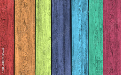 Fototapeta drewno  creative-art-multi-colored-wood-planks-background