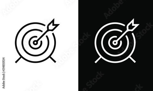 Cuadros en Lienzo Core Values vector design icon black and white