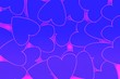 canvas print picture - Love, Valentine day and heart design. Illustration concept of blue hearts with purple strokes and background. For your celebrating of love, wedding or couples, passion and feelings, or wrapping stuff.