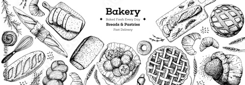 Papel de parede Bakery background