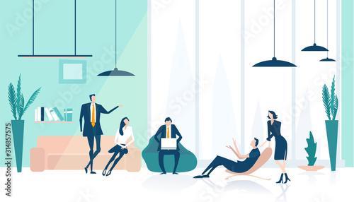 Cuadros en Lienzo Business people working in office