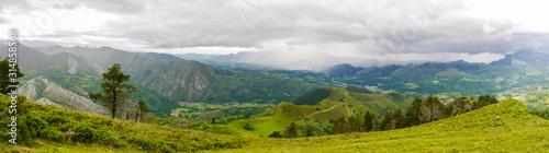 Panoramaausblick Mirador de Següencu Wallpaper Mural