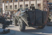 Military Armored Trasnporter At The National Day Parade
