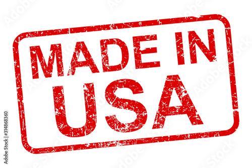 Fotografía Made in USA stamp icon sign – stock vector