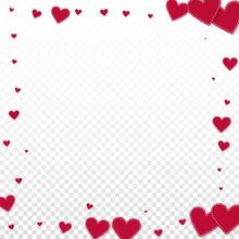 Red Heart Love Confettis. Vale...