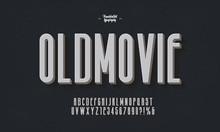 Retro Style Font, Old Movie Ti...