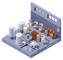 Vector Isometric Craft Beer Br...