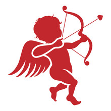 Cupid Silhouette Icon
