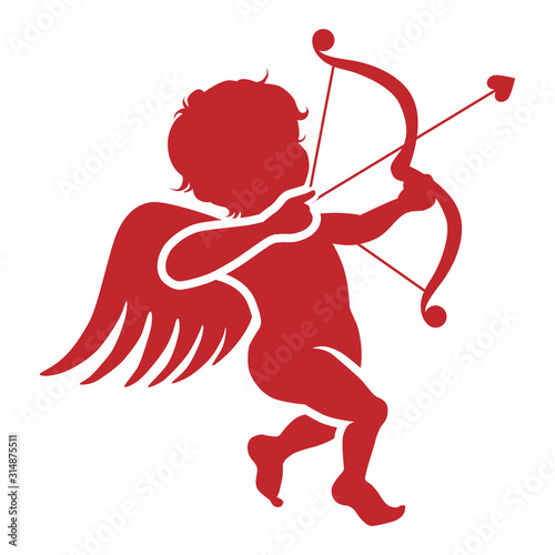 Photo Cupid silhouette icon