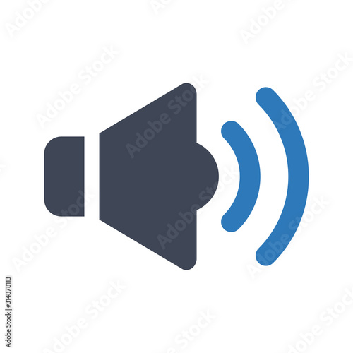 Fotomural  Loud volume icon