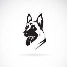 Vector Of Dog Head (German Shepherd). Pet. Animals.