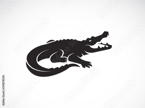 Canvas Print Vector of crocodile design on white background