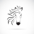 Vector of a horse head design on white background. Wild Animals. Horse head icon or logo. Easy editable layered vector illustration.