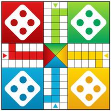 Ludo Board Game Vector Illustration Design