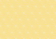 Yellow And White Geometric Pat...
