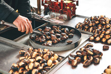 Sale Of Roasted Chestnuts In T...