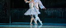 Nutcracker Ballet. Closeup Of Ballerinas Dancing