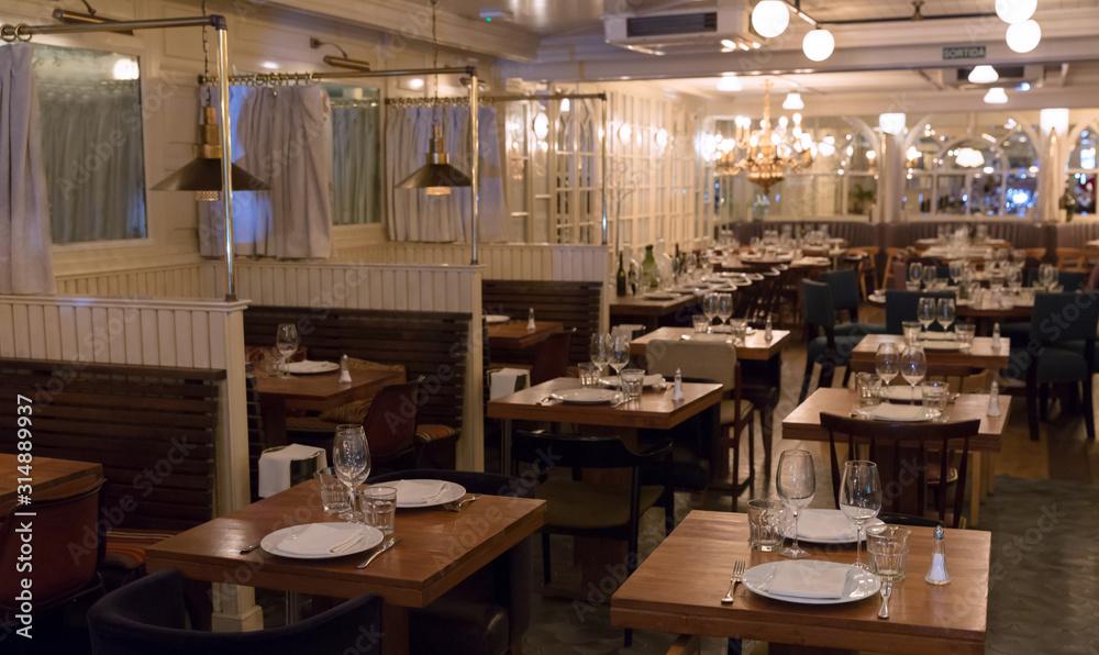 Fototapeta Interior of restaurant