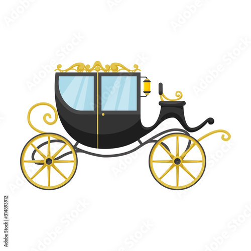 Vintage carriage vector icon Poster Mural XXL