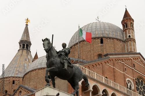 фотография Pontifical Minor Basilica of Sant'Antonio di Padova from 1232, with the equestrian statue of Gattamelata by Donatello