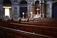 Interior Of Catholic Church Wi...