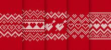 Knit Red Print. Seamless Patte...
