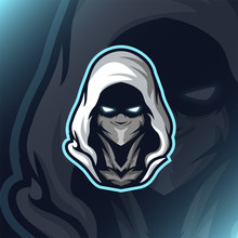 Assassin Reaper Head Mascot Ga...
