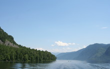 Teletskoe Lake In Summer Among...