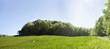 Leinwanddruck Bild - Frühsommerliche Sonne über weiter Landschaft, Panorama