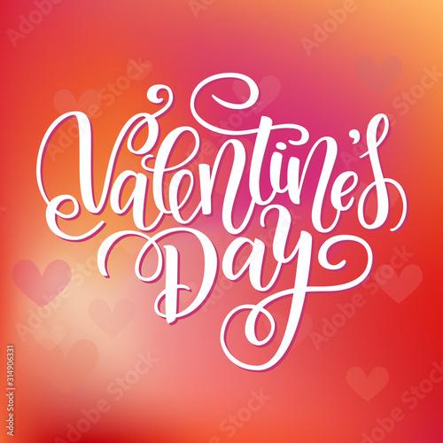 Vászonkép Happy Valentines day card