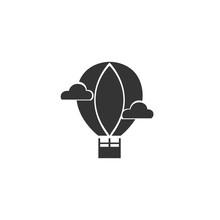 Hot Air Balloon Icon Vector Sy...