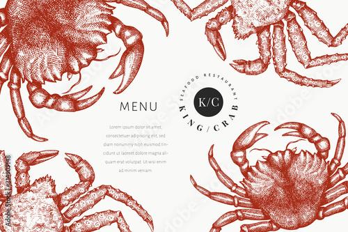 Photo Crab design template