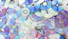 Old Technology, Waste Compact Disc Collection Decoration For Pattern. Cd Background Concept.