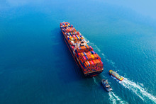 Aerial View Of Container Cargo...