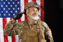 American Military Veteran Salu...
