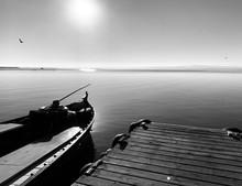 Fishing Boat At Sunset In Albu...