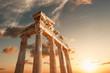 Leinwanddruck Bild - Amazingly Temple of Apollon ancient ruins. Apollon temple in Side antique city, Antalya, Turkey.