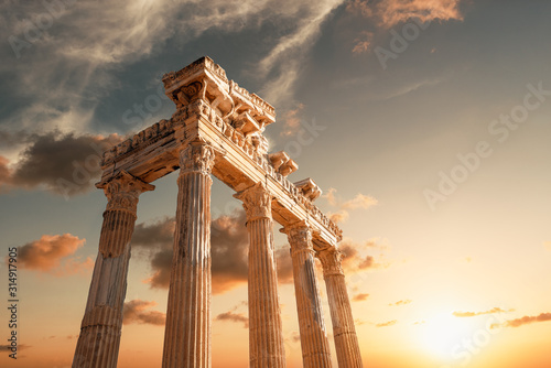 Amazingly Temple of Apollon ancient ruins Canvas Print